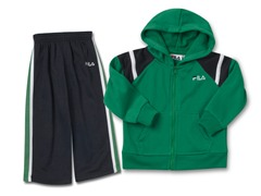 Boys Green/Black Fleece Set