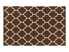Brown Geometric Hand Woven Rug 6-Sizes