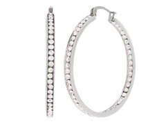 Stainless Steel 40mm CZ Hoops