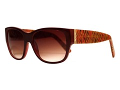 Zandra Sunglasses, Brown Chevron