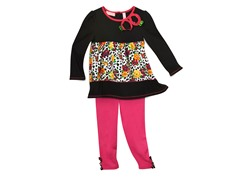 Tunic & Leggings Set - Rose Leopard (12M-6X)