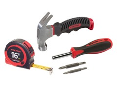 Hammer, Screwdriver, Tape Measure Set