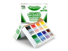 200 ct. Broad Line Washable Markers in 8 Colors