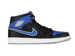 Jordan 1 Mid - Black/Blue, 8-10