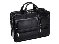 Hubbard Leather Double Compartment Laptop Case