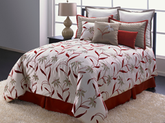 Tiger Lilies 7Pc Bedding Set - King