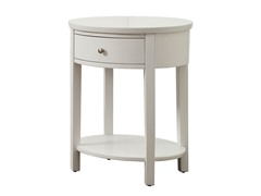 Oval Accent Table - White