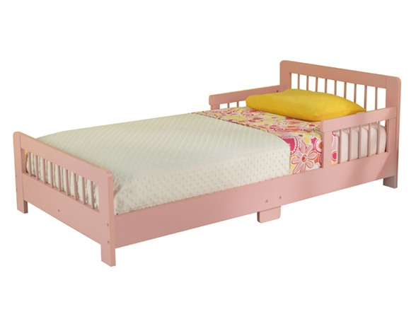 Slatted Toddler Bed Pink
