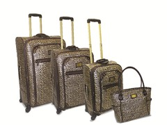 Deluxe Spinner 4pc Set-Mini Leopard