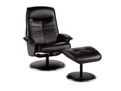 Recliner & Ottoman - Bonded Leather