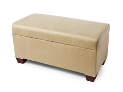 Upholstered Storage Bench - Oatmeal