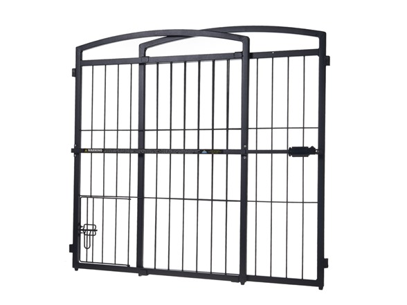Outdoor Extra Tall Expandable Gate W Door