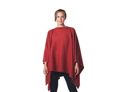 DHS Pleece Poncho - Tomato Red