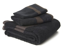 Bamboo Viscose 3-pc Towel Set - Black