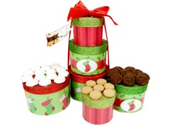 Stocking Tower with Cookies - 3 Flavors