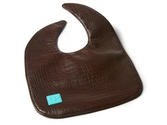 Faux Leather Chocolate Bib