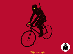 Ninja on a bicycle Pullover Hoodie
