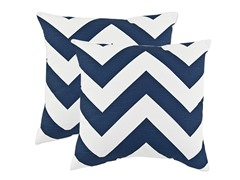 Zippy Premier Navy 17x17 Pillows - S/2