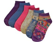 MUK LUKS ® No Show Socks 6-Pack, Boho Floral