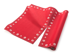 Red Snowflake Placemat 12-Ct Cotton