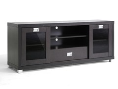 Baxton Matlock TV Stand w/Glass Doors