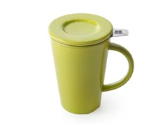 My Friendly Mug - 11oz with Strainer & Lid – Green