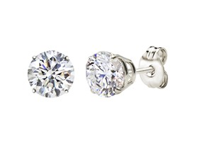 Sterling Silver 2 CT White Topaz Earrings