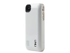 uNu iPhone 4/4S Battery Case-White/Slv