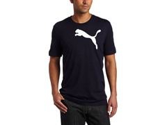 Puma Men's Basic Cat T-Shirt, Navy(L,XL)