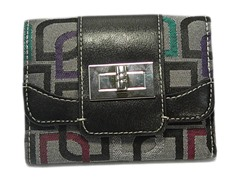 Vecelli Italy Tri-Fold Wallet, Multi