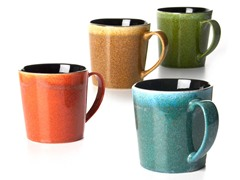 BIA Set of 4 16 oz Mugs-Spotted Glaze