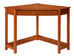 Homelegance Corner Desk - Mahogany