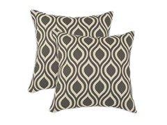 Nichole 17x17 Pillows - Grey - Set of 2