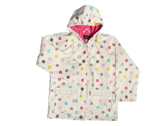 White Multi Dot Rain Coat