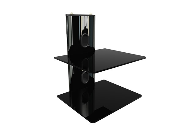 2 shelf component wall mount. Black Bedroom Furniture Sets. Home Design Ideas