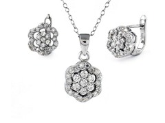 Sterling Silver Flower Set