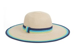 Straw Hat, Turquoise