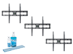 "3pk Slim Tilt Mount - 20-47"" w/ Screen Clean Kit"
