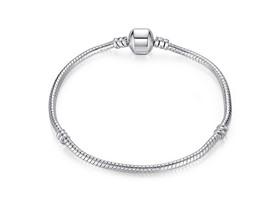 Pandora Inspired Plain Silver Bracelet