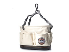 Canvas 13-Pocket Oval Bucket with Rope