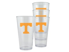 Tennessee Plastic Pint Glasses 4-Pk