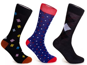 Steven Land 6pk Men's Dress Socks
