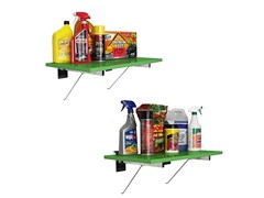 24-Inch Shelf with 4 Brackets, 2-Pack
