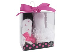 Baby Deer 2-Pk Sock - Pearl/ Ribbon
