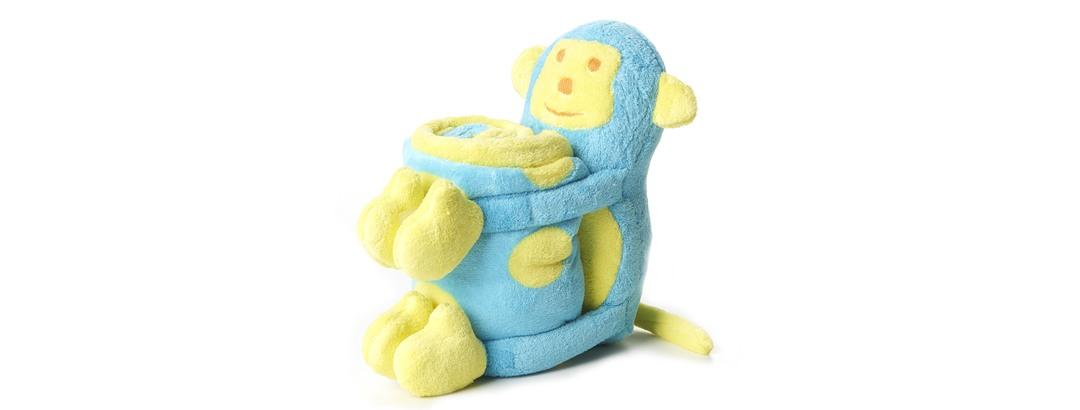 Elegant Baby - Baby Blanket & Toy Monkey