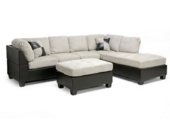 Mancini Sectional and Ottoman