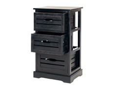 Samara 3 Drawer Cabinet - Black