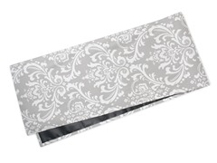 Large Damask Table Runner-Gray