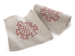 Snowflake Lunch Napkin 20-Ct Linen