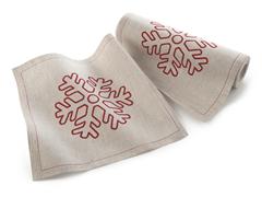 Snowflake Lunch Napkin 20-Ct Linen